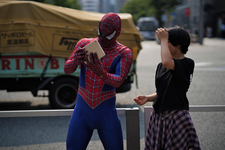 博多のスパイダーマン
